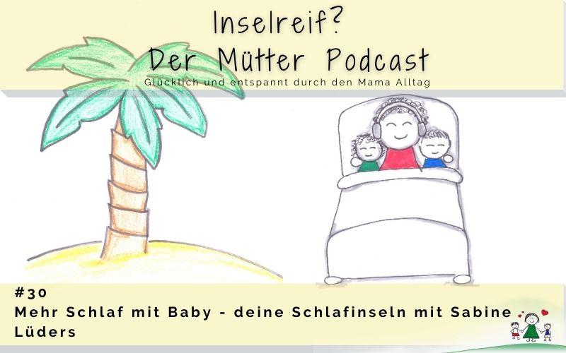 mehr Schlaf mit Baby - deine Schlafinsel. Eine Mama mit Kindern im Bett